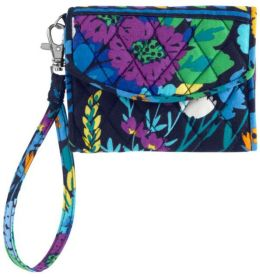 Vera Bradley Midnight Blues Super Smart Phone Wristlet