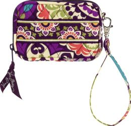 Vera Bradley Plum Crazy Tech Fabric Case 5'' x 3.25'' x 0.5''