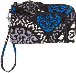 Vera Bradley Canterberry Cobalt Zip Zip Wristlet 7