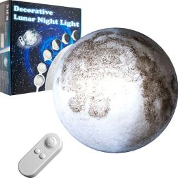 Decorative Lunar Night Light with Remote Control