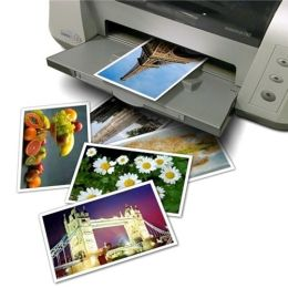 BasAcc - Glossy Photo Paper 4x6 for Inkjet Printers - Epson, HP, Canon, Lexmark (20 Sheets)