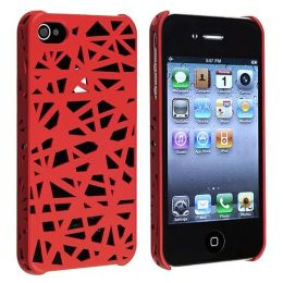 BasAcc - Apple® iPhone® 4/4S Clip-on Case , Red Bird Nest Rear