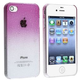 BasAcc - Snap-on Case compatible with Apple® iPhone® 4 / 4S , Clear Purple Waterdrop