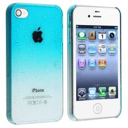 BasAcc - Snap-on Case compatible with Apple® iPhone® 4 / 4S , Clear Sky Blue Waterdrop