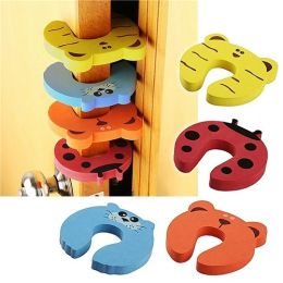 BasAcc - Door Stop Finger Pinch Guard , Mixed Color [4pc-pack]