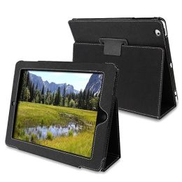 BasAcc - Black Embossed Leather Case w/ Stand Compatible With Apple® iPad® 2 2nd Generation 16GB / 32GB / 64GB