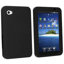 BasAcc - Silicone Skin Case for Samsung P1000 Galaxy Tab, Black
