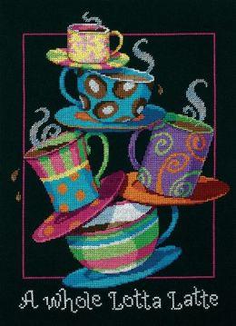 A Whole Lotta Latte Counted Cross Stitch Kit-11