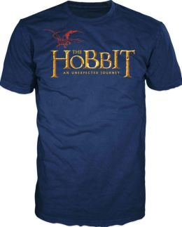 Hobbit Logo on Navy Short Sleeve T-Shirt - XLarge