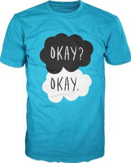 John Green The Fault In Our Stars Adult Turquoise T-Shirt - L/XL