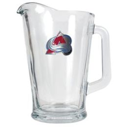 Great American Products Colorado Avalanche NHL 60oz Glass Pitcher - Primary Logo