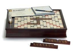 Scrabble Large Wooden Deluxe