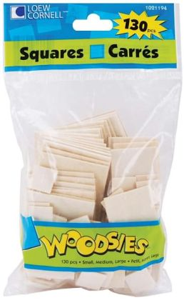 Woodsies Shapes 130/Pkg-Squares