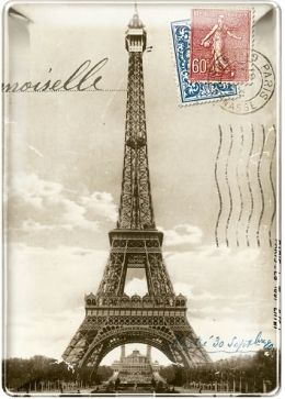 Eiffel Tower Small Rectangle Tray 4x5.75