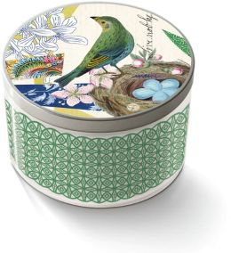 ''Live Nobly'' Glass Candle w/Tin Lid