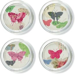 ''Yours Truly'' Glass Coaster Set of 4