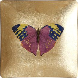 Spotted Butterfly Foil Square Tray 4.5 x 4.5