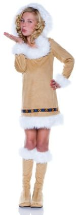 Eskimo Girl Child Costume: Size Medium
