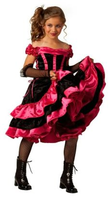 Can Can Dancer Child Costume: Size Small (6-8)