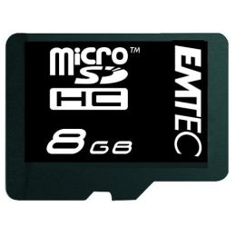 EMTEC 60X Class 4 Micro SD Memory Card 8 GB with Adapter