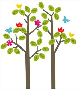 Wall Candy Art Seasons Tree