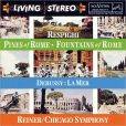 CD Cover Image. Title: Debussy: La Mer / Respighi: Fountains of Rome, Pines of Rome, Artist: Fritz Reiner