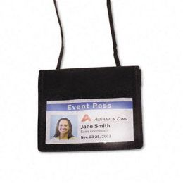 Advantus 75452 ID Badge Holder/Convention Pouch Horizontal 48 Cord 12 Per Pack