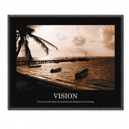 Advantus 78163 Vision Framed Sepia-Tone Motivational Print 30w x 24h
