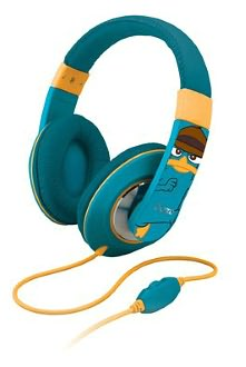 KIDdesigns DF-M40 Phineas & Ferb Over the Ear Headphones