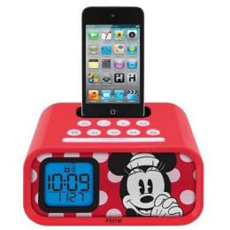 KIDdesigns DM-H22 Minnie Mouse Alarm Clock Speaker System