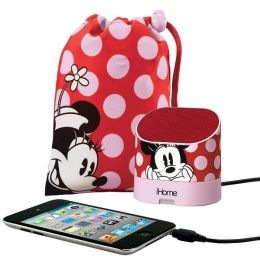 KIDdesigns DM-M63 Minnie Mouse Portable Rechargeable Speaker