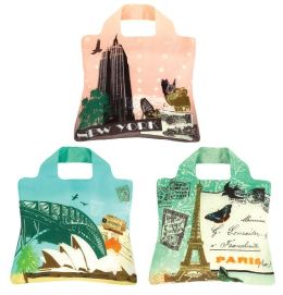 Travel Reusable Tote Bags, Set of 3
