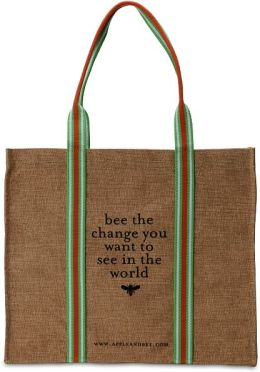 Bee The Change Jute Tote