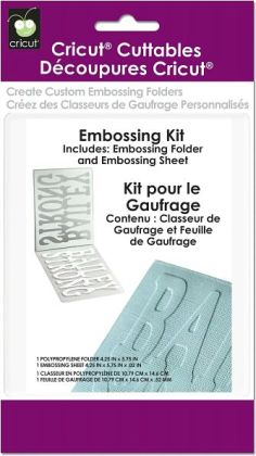 Cricut Cuttables Embossing Folder Kit-4.25