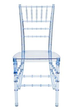 OC Designs C-102PB Set of 2 Crystal Chiavari Chairs- Pastel Blue