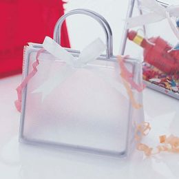 Mini Handbag Placecard Holder - Frost