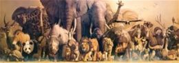 Safari 406121 Deluxe Wild Animal Panorama Rolled And Tubed Poster - Pack Of 3