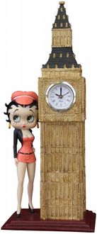 Atlantic Importers Bb1488 Betty Boop Skyscraper Clock Figure - 18 Inches High