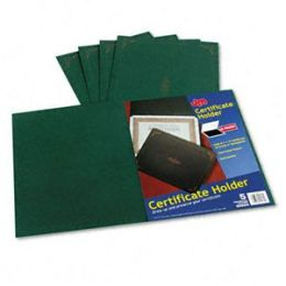 Oxford 29900-605BGD Certificate Holder- 12-1/2 x 9-3/4- Green- 5/Pack