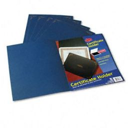 Oxford 29900-235BGD Certificate Holder- 12-1/2 x 9-3/4- Dark Blue- 5/Pack