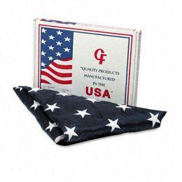 Advantus MBE002220 All-Weather Outdoor U.S. Flag 100 Percent Heavyweight Nylon 4 ft. x 6 ft.