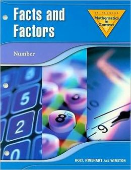 Holt Math in Context: Facts And Factors Grade 7