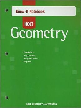 Holt McDougal Geometry: Know-It Notebook
