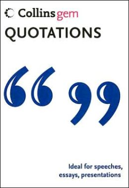 Collins Gem Quotations (Fifth Edition)