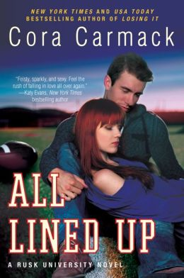 The cover of Cora Carmack's All Lined Up