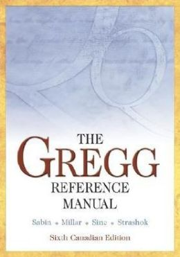 Gregg Reference Manual (Canadian Edition)