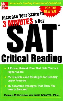 Increase Your Score in 3 Minutes a Day: SAT Critical Reading: SAT CRITICAL READING (EBOOK)