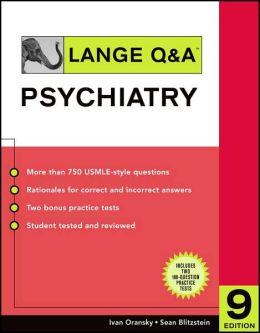 Lange Q&A Psychiatry, Ninth Edition