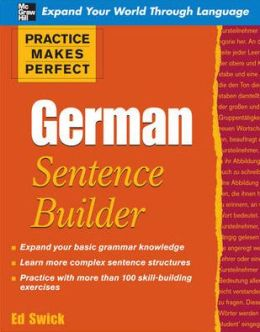 Practice Makes Perfect: German Sentence Builder