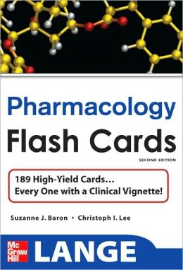 LANGE High-Yield Pharmacology Flash Cards